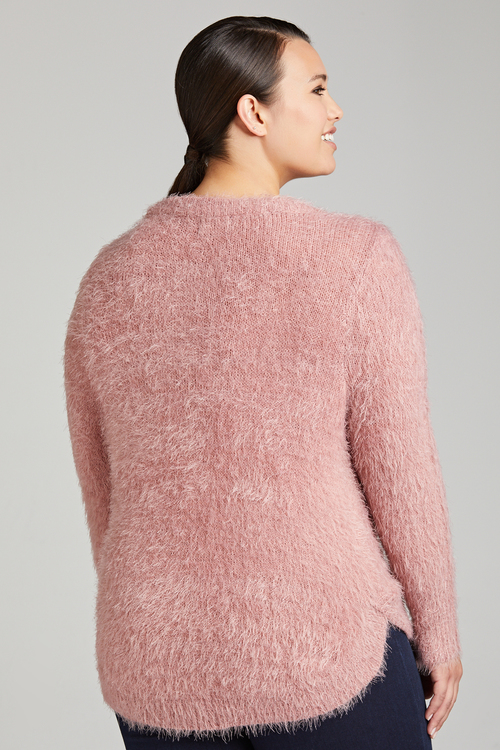 Plus Size - Sara Eyelash Sweater