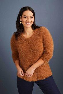 Sara Eyelash Sweater - 221410