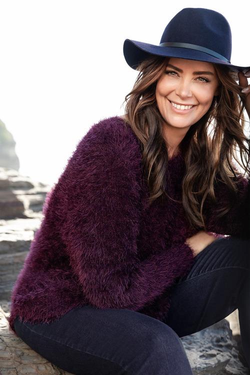 Plus Size - Sara Eyelash Sweater