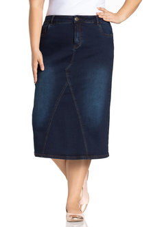 Plus Size - Sara Denim Midi
