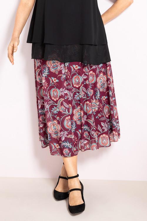 Plus Size - Sara Chiffon skirt