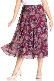 Plus Size - Sara Chiffon skirt - 221414