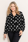 Plus Size - Sara Cross Over Top