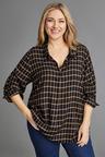 Plus Size - Sara Check Pull on Shirt