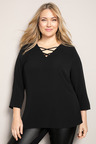 Plus Size - Sara Criss Cross Top
