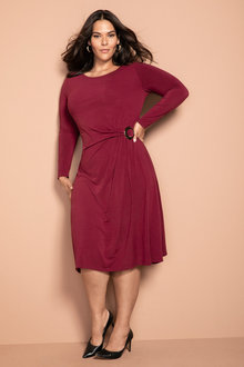 Plus Size - Sara Buckle Detail Dress - 221426