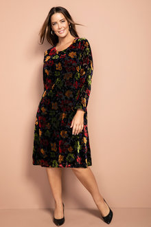 Plus Size - Sara Flocked Dress
