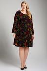 Plus Size - Sara Flocked Dress