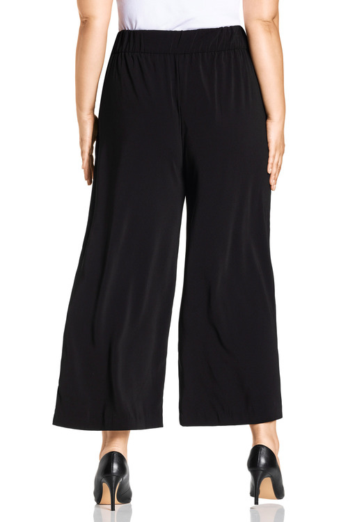 Plus Size - Sara Button Detail Culotte