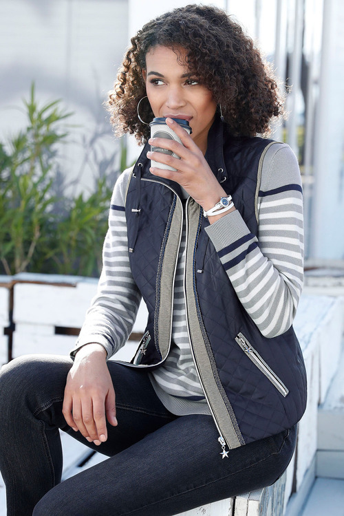 Euro Edit Quilted Puffer Vest