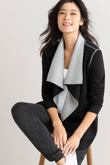 Capture Waterfall Contrast Jacket Cardi