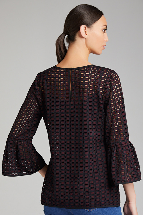 Grace Hill Bell Sleeve Lace Top