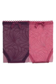 Next Embroidered Knickers Two Pack - Brazilian