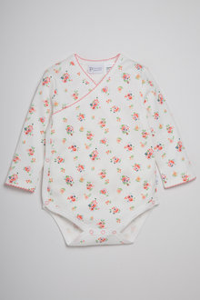 Pumpkin Patch Girls Bodysuit Wrap Strawberry Fields All Over Print