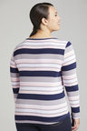 Plus Size - Sara Button Stripe Tee