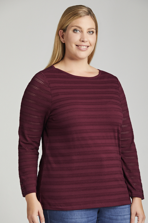 Plus Size - Sara Pointelle Tee