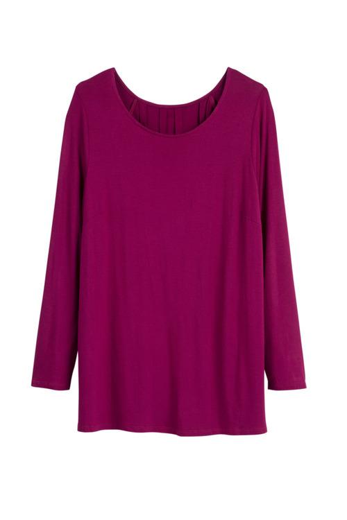 Plus Size - Sara Long Sleeve Pleat Back Top