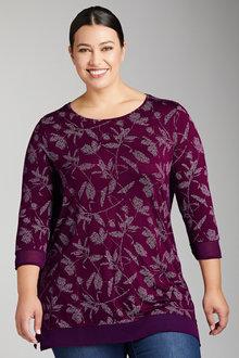 Plus Size - Sara Chiffon Trim Top - 221528