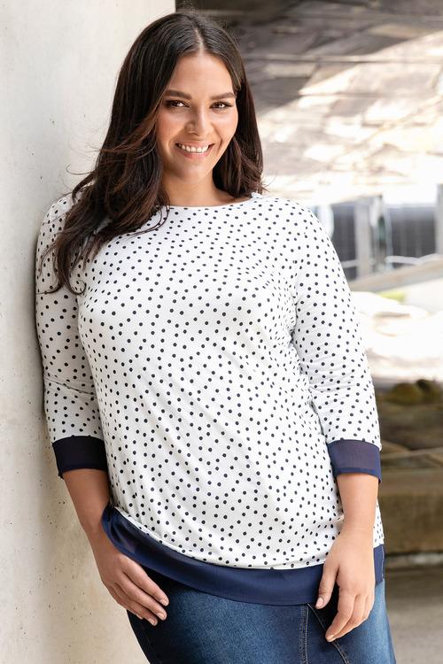 Plus Size - Sara Chiffon Trim Top