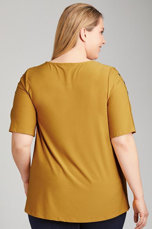 SARA Domed Sleeve Top