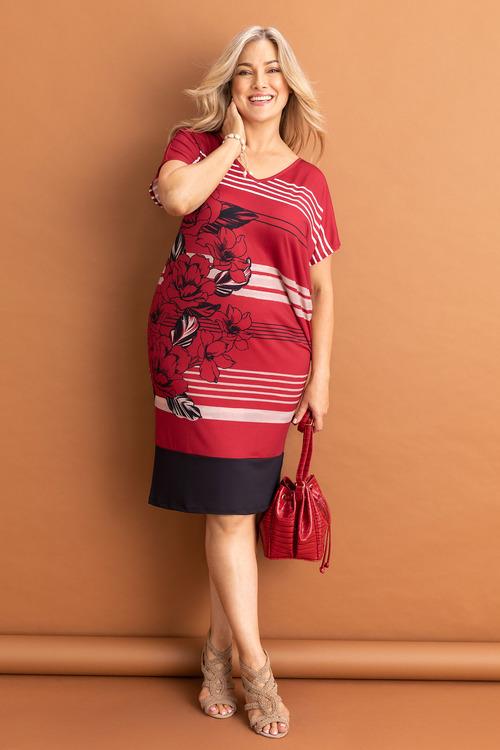 Sara Placement Print Dress