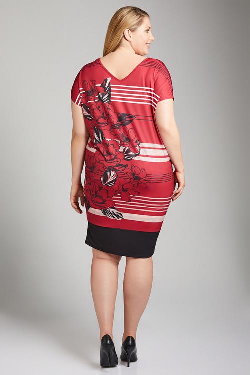 Plus Size - Sara Placement Print Dress