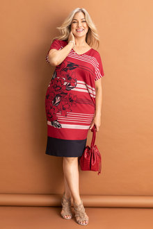 Plus Size - Sara Placement Print Dress