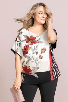 Plus Size - Sara Floral Print Top