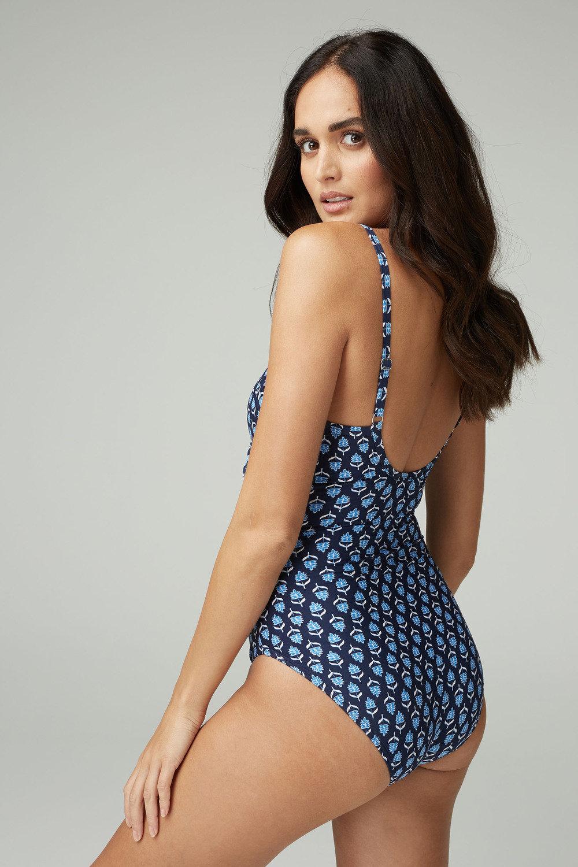 Next Geo Print Shape Enhancing Swimsuit