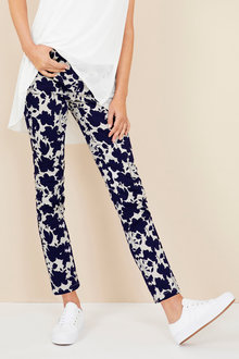 Capture Cotton Sateen Printed Pants - 221616