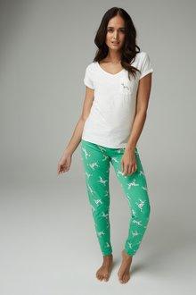 Next Dalmatian Pyjamas With Ribbon Wrapping