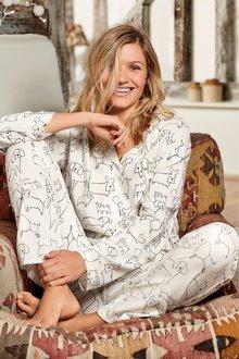 Next Dog Print Button Through Pyjamas