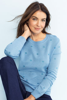 Capture Jacquard Spot Crew Neck Sweater
