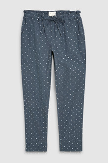 Next Cotton Spot Woven Pyjama Pants