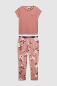 Next Floral Pyjamas With Ribbon Wrapping