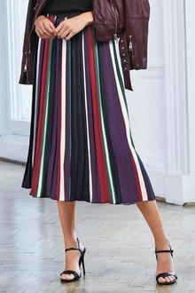 Next Stripe Pleated Skirt