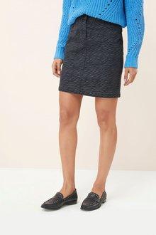 Next Coated Denim Mini Skirt - Tall