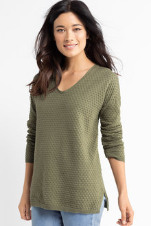 Capture Bobble Knit V Neck Sweater