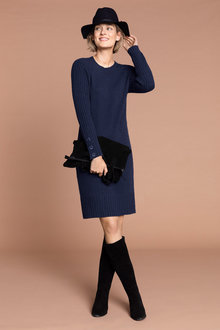 Capture Rib Sleeve Dress