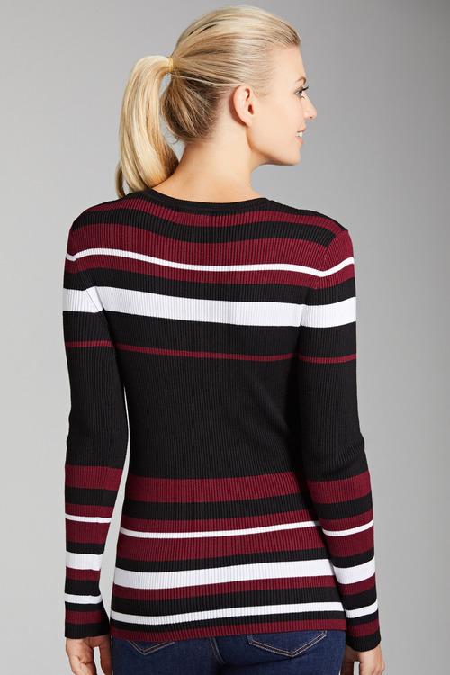 Capture Ribbed Stripe Knit