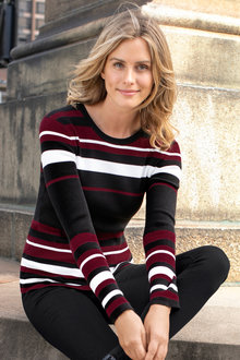 Capture Ribbed Stripe Knit