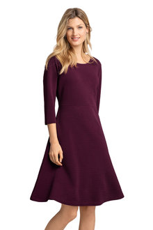 Capture 3/4 Sleeve Ribbed Dress