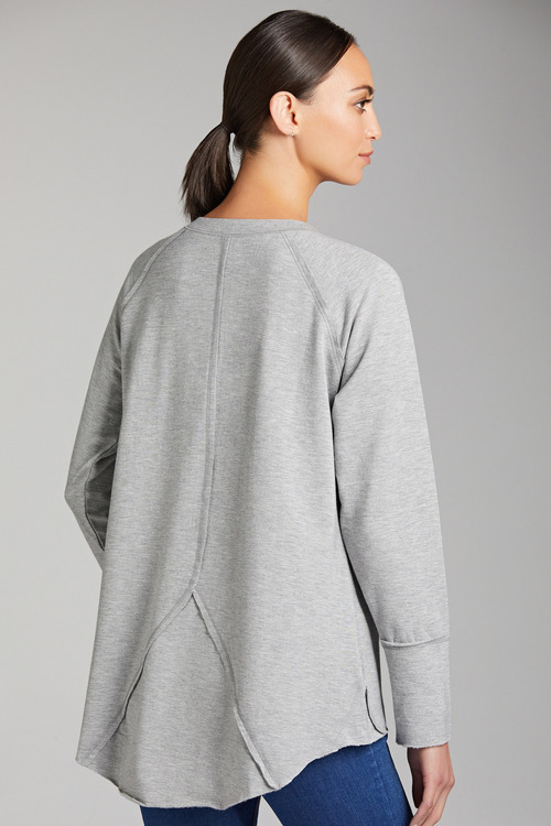Capture French Terry Panel Detail Long Sleeve Top