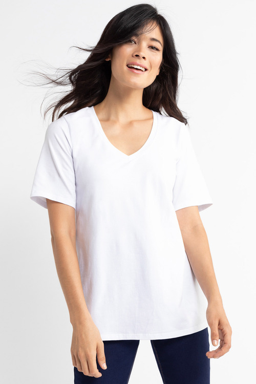 Capture Slouchy V Neck Tee