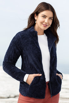 Capture Fluffy Fleece Zip Through Jacket