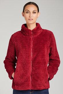 Capture Fluffy Fleece Zip Through Jacket