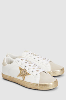 Next Forever Comfort Gold Star Trainers