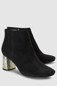 Next Feature Metal Heel Ankle Boots