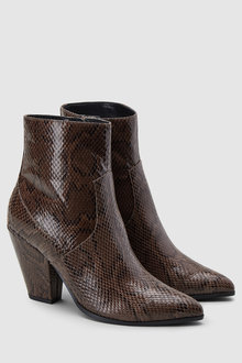 Next Feature Heel Western Ankle Boots