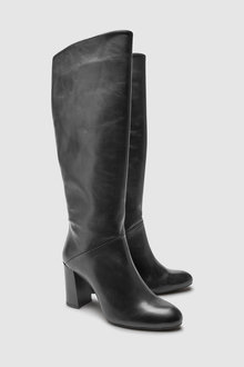 Next Signature Comfort Heeled Knee High Boot